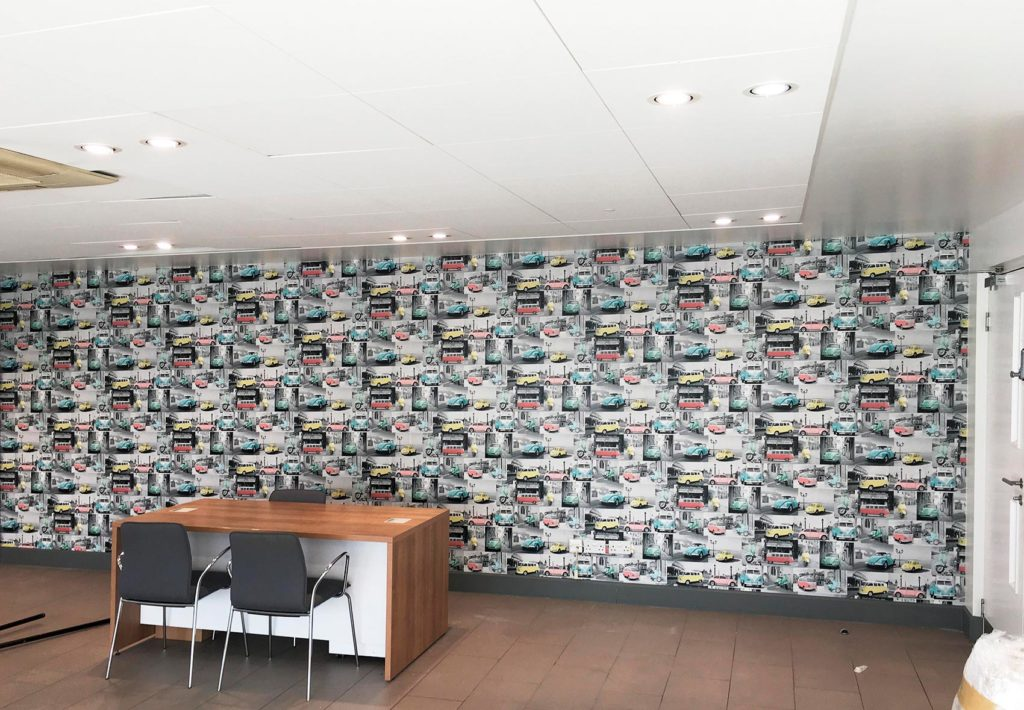 Commercial office wallpaper