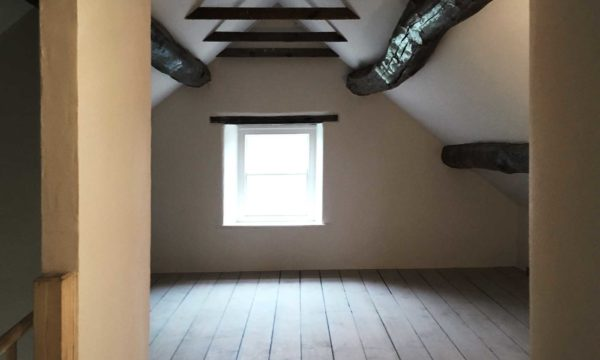 A painted domestic attic